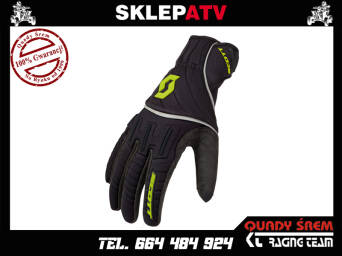 RĘKAWICE SCOTT RIDGELINE black/lime green  L