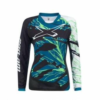 BLUZKA CAN-AM LADIES TEAM JERSEY TEAL r. L