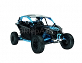 Can-Am Maverick Turbo R X RC Carbon Black-Gulfstream Blue