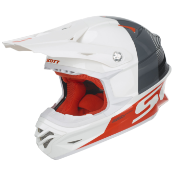KASK SCOTT HELMET 350 PRO TRACK  WHITE/ORANGE XS
